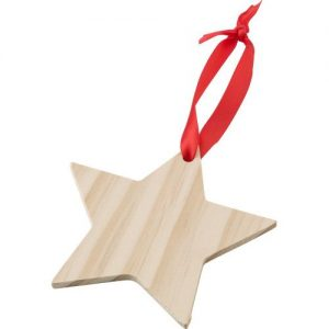 Wooden Christmas ornament Star 9051