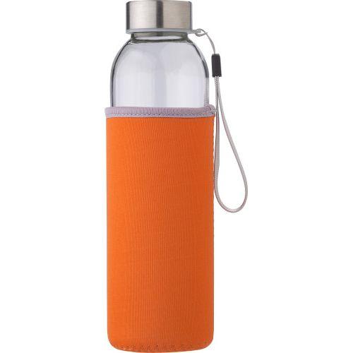 Glass bottle (500 ml) with neoprene sleeve 9301
