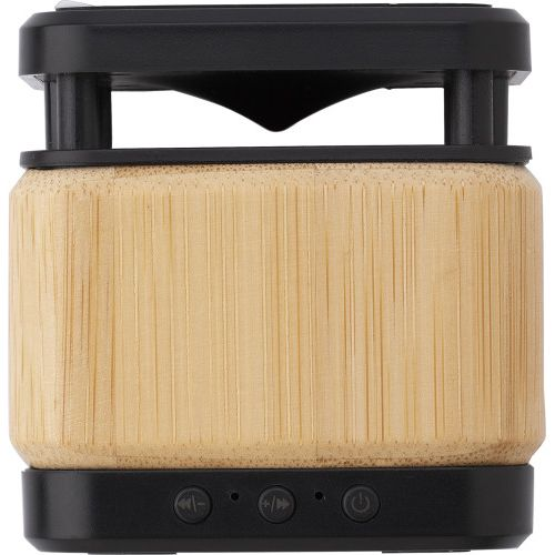 Bamboo and ABS wireless speaker and charger 9319