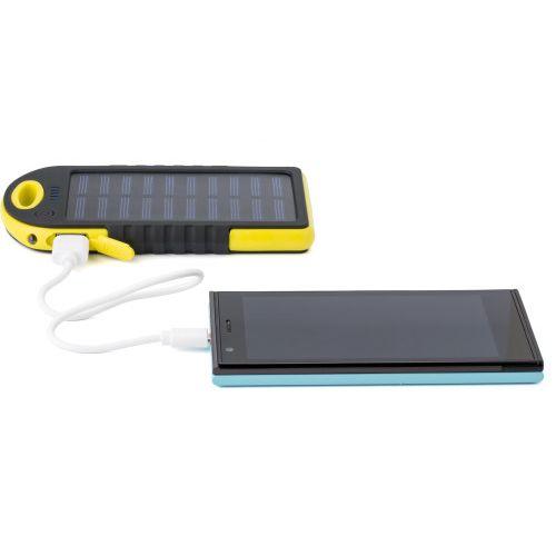 Rubberized ABS solar power bank 9333