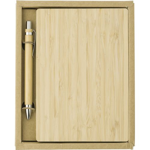 Bamboo cover notebook 9344