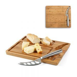 Daska za sir od bambusa sa nožem S93975