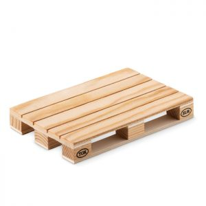Wooden coaster in pallet shape PALY MO9504-40