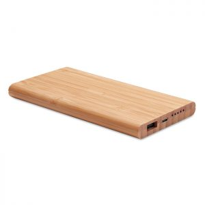 Wireless power bank in bamboo ARENA MO9662-40