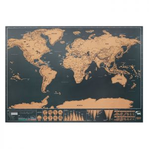 Scratch world map 42x30cm BEEN THERE MO9736-13