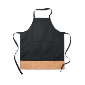 Apron with cork hem KITAB CORK MO9792-03