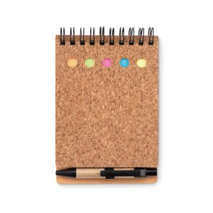 Cork notebook and sticky notes MULTICORK MO9856-03