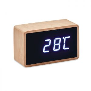 LED alarm clock bamboo casing MIRI CLOCK MO9921-40