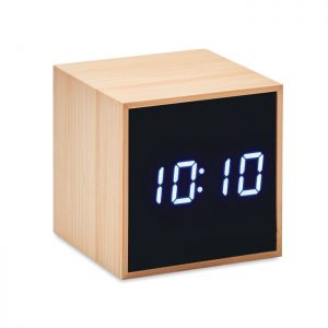 LED alarm clock bamboo casing MARA CLOCK MO9922-40