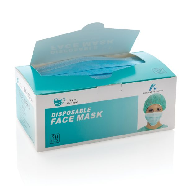 50 PCS. 3-ply disposable mask incl. customised sleeve P265.885