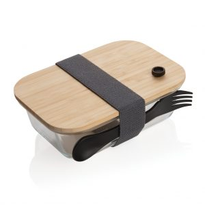 Glass lunchbox with bamboo lid P269.560