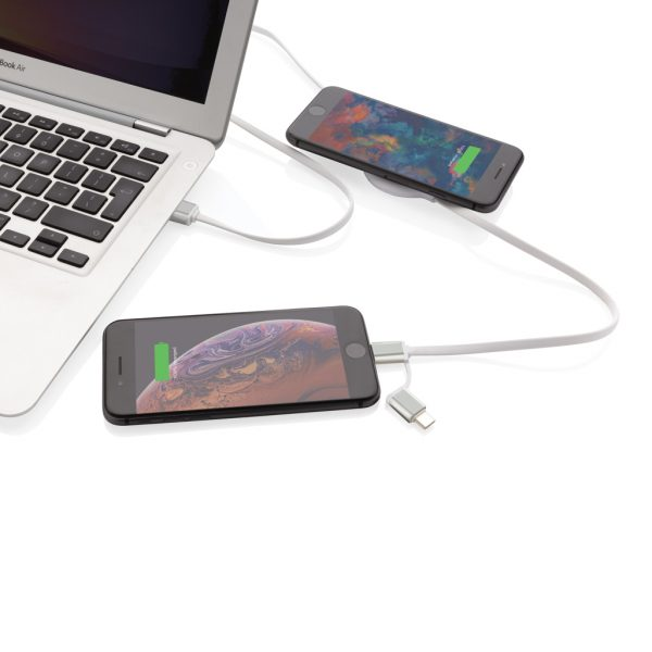 3-in-1 cable with 5W bamboo wireless charger P302.253