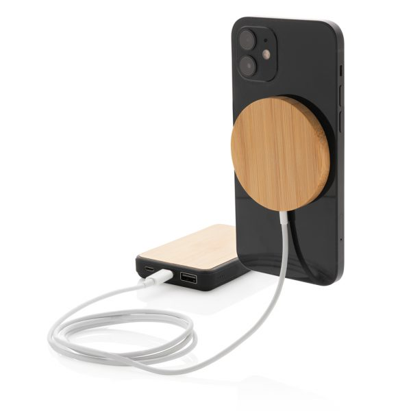 10W bamboo magnetic wireless charger P302.639