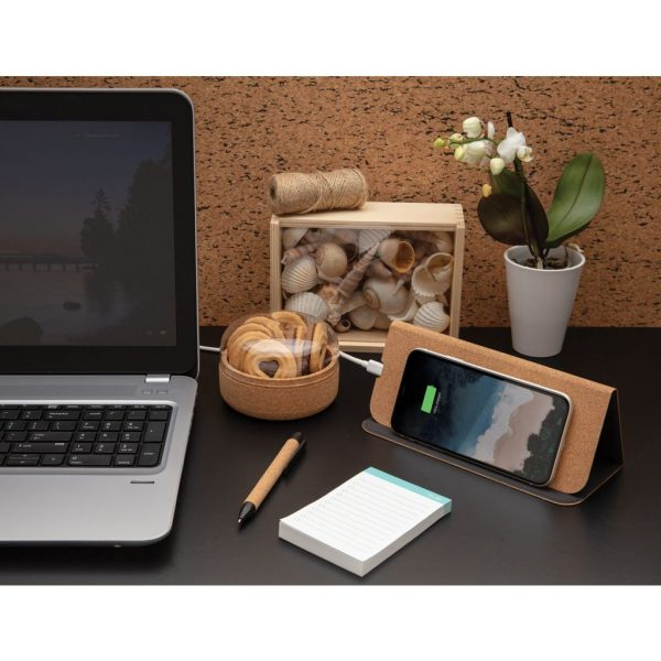 5W wireless charging cork mousepad and stand P308.089