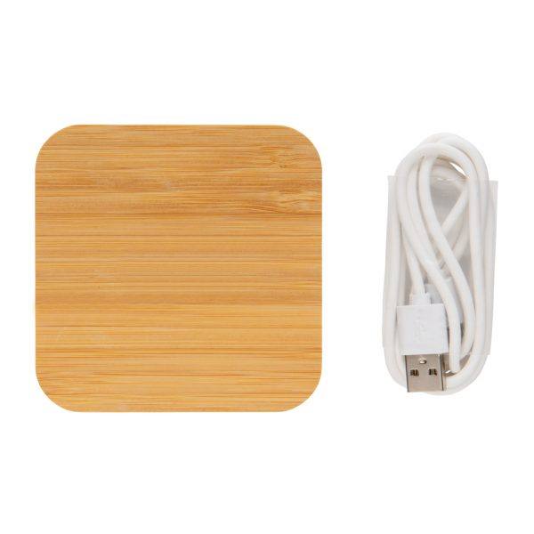 Bamboo 5W wireless charger with USB ports P308.189