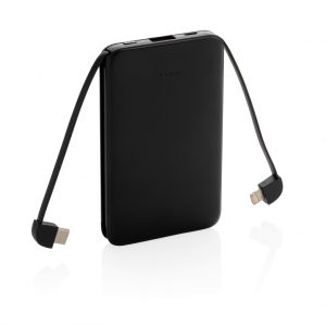 5.000 mAh Pocket Powerbank with integrated cables P322.081