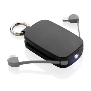 1.200 mAh Keychain Powerbank with integrated cables P322.171