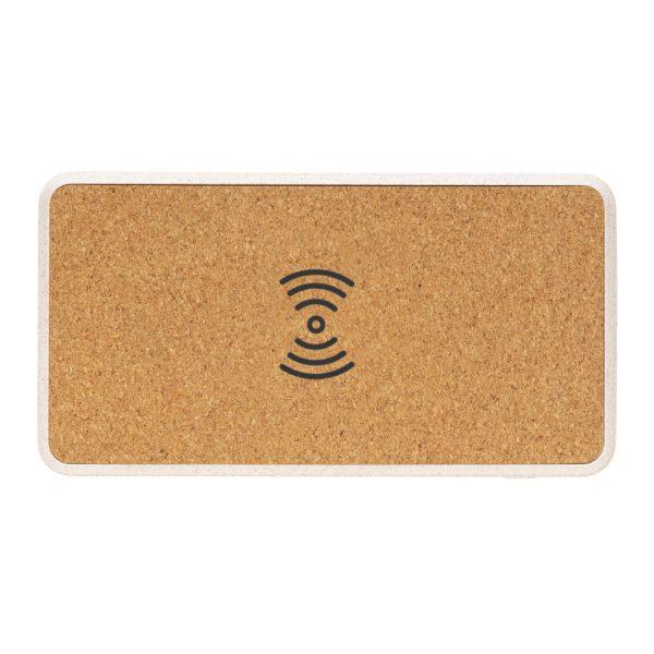 Cork and Wheat Straw 8.000 mAh 5W wireless powerbank P322.219
