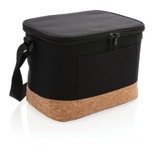 Two tone cooler bag with cork detail P422.261