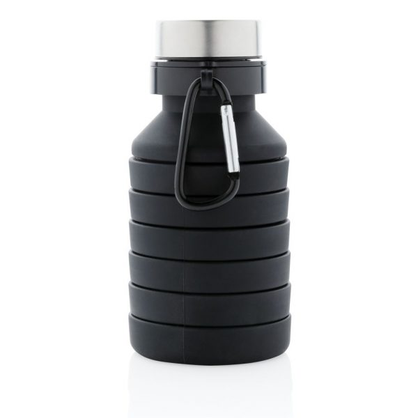 Leakproof collapsible silicone bottle with lid P432.621