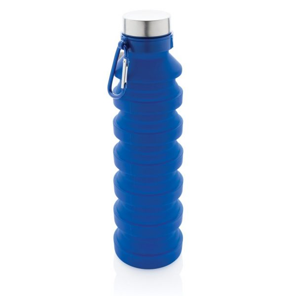 Leakproof collapsible silicone bottle with lid P432.625