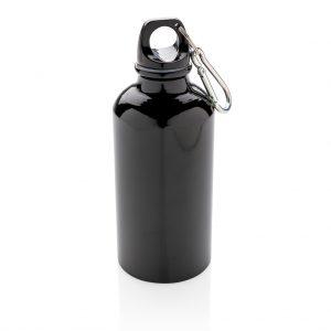 Aluminium reusable sport bottle with carabiner P436.161