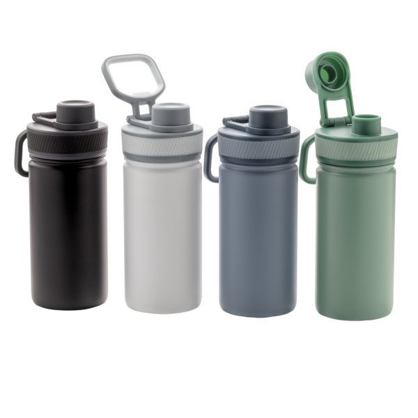 Vacuum stainless steel bottle with sports lid 550ml P436.193