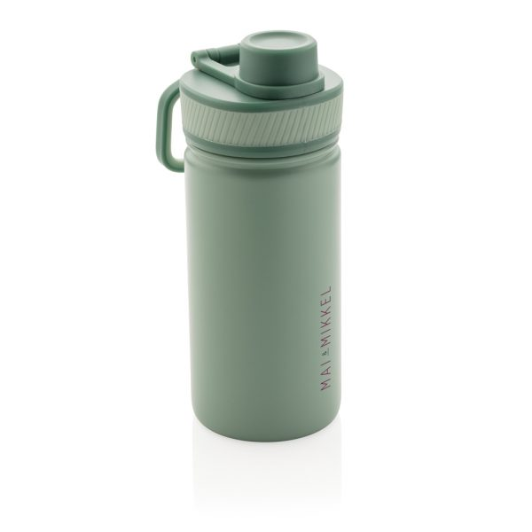 Vacuum stainless steel bottle with sports lid 550ml P436.197