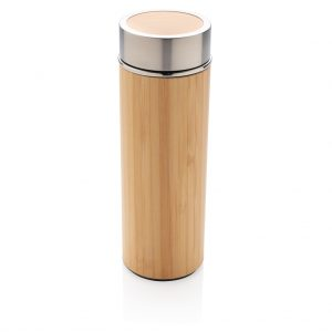 Leak proof bamboo vacuum bottle P436.239