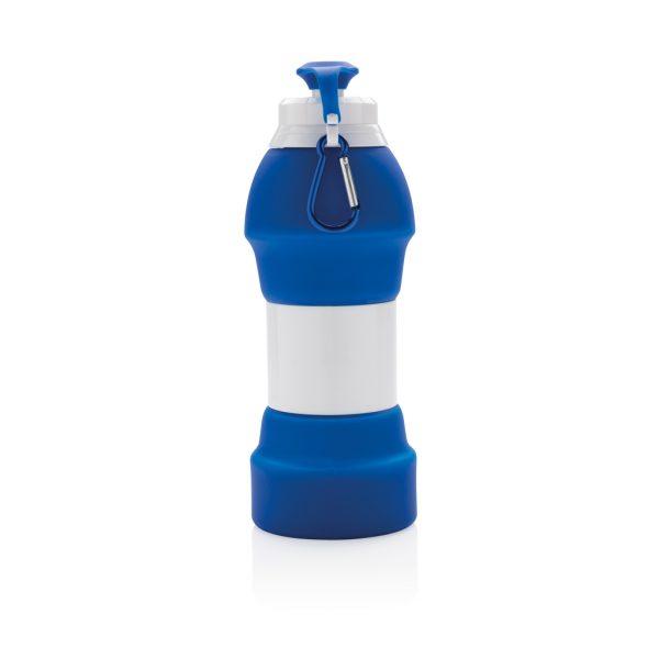 Foldable silicone sports bottle P436.355