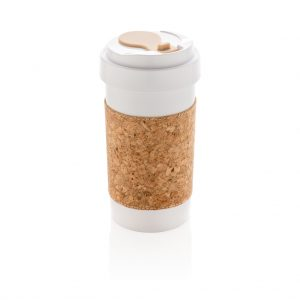 ECO PLA 400ml can with cork sleeve P436.593