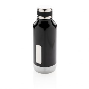 Leak proof vacuum bottle with logo plate P436.671