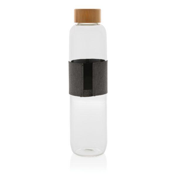 Impact borosilicate glass bottle with bamboo lid P436.770