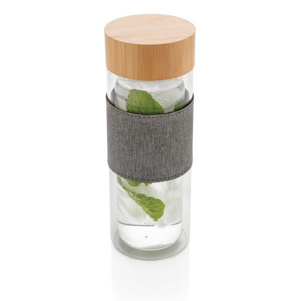 Impact double wall borosilicate glass bottle P436.780