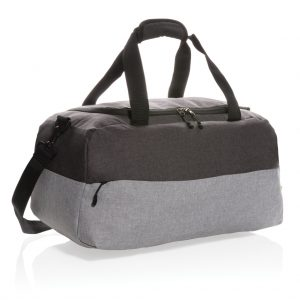 Duo colour RPET RFID weekend bag PVC free P707.262
