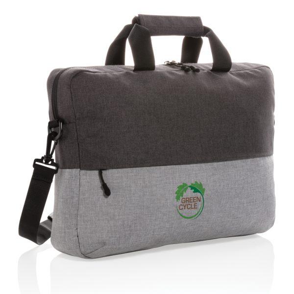 "Duo colour RPET 15.6"" RFID laptop bag PVC free P732.082"
