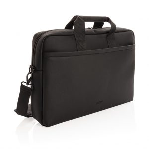 Swiss Peak deluxe vegan leather laptop bag PVC free P732.091