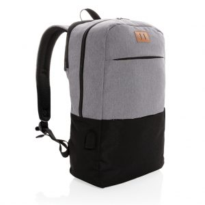"Modern 15.6"" USB & RFID laptop backpack PVC free P760.051"