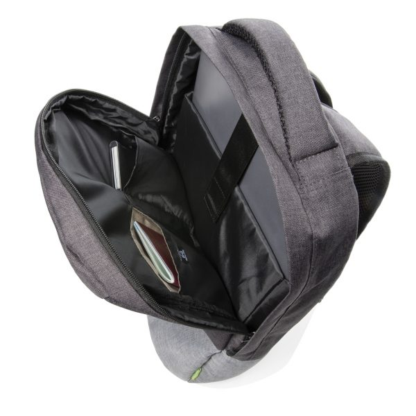 """Duo colour RPET 15.6"""" RFID laptop backpack PVC free P760.122"""