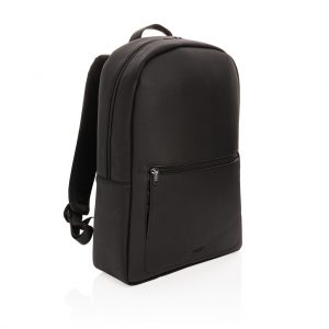 Swiss Peak deluxe vegan leather laptop backpack PVC free P762.561