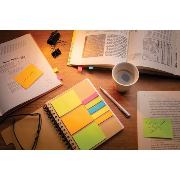 A5 Kraft spiral notebook with sticky notes P772.119