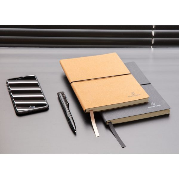 A5 recycled leather notebook P772.219