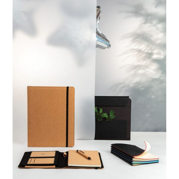 Softcover PU notebook with coloured edge P774.021
