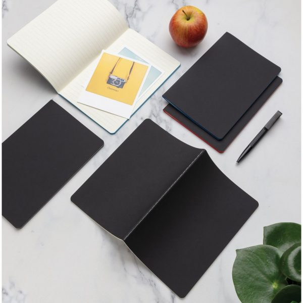 Softcover PU notebook with coloured edge P774.023