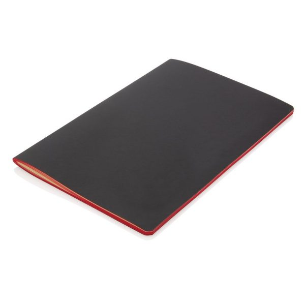 Softcover PU notebook with coloured edge P774.024