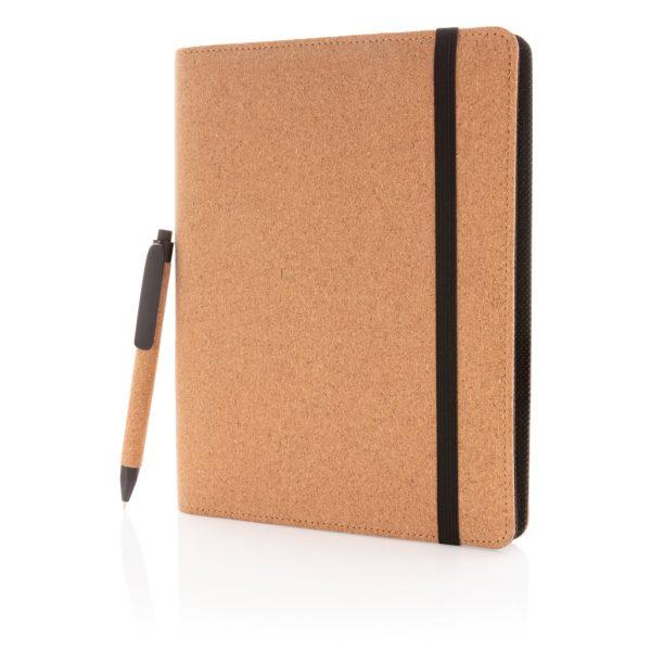 Deluxe cork portfolio A5 with pen P774.121