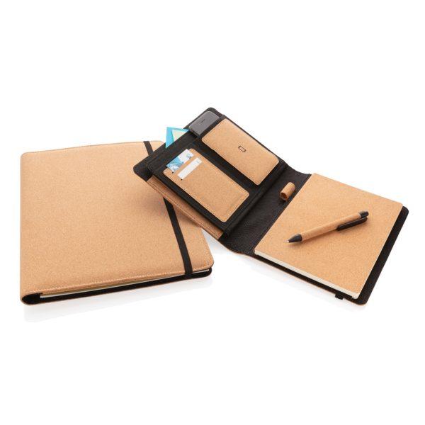 Deluxe cork portfolio A4 with pen P774.131