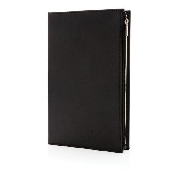 Swiss Peak A5 PU notebook with zipper pocket P774.141