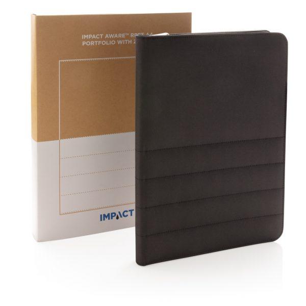 Impact AWARE™ RPET A4 portfolio with zipper P774.161