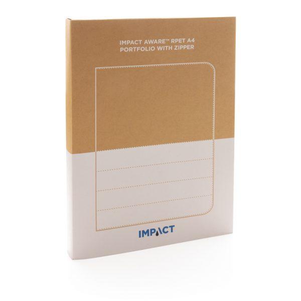 Impact AWARE™ RPET A4 portfolio with zipper P774.162